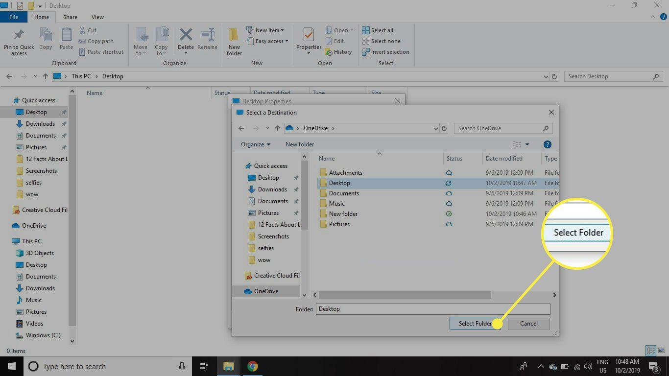 The Select Folder button