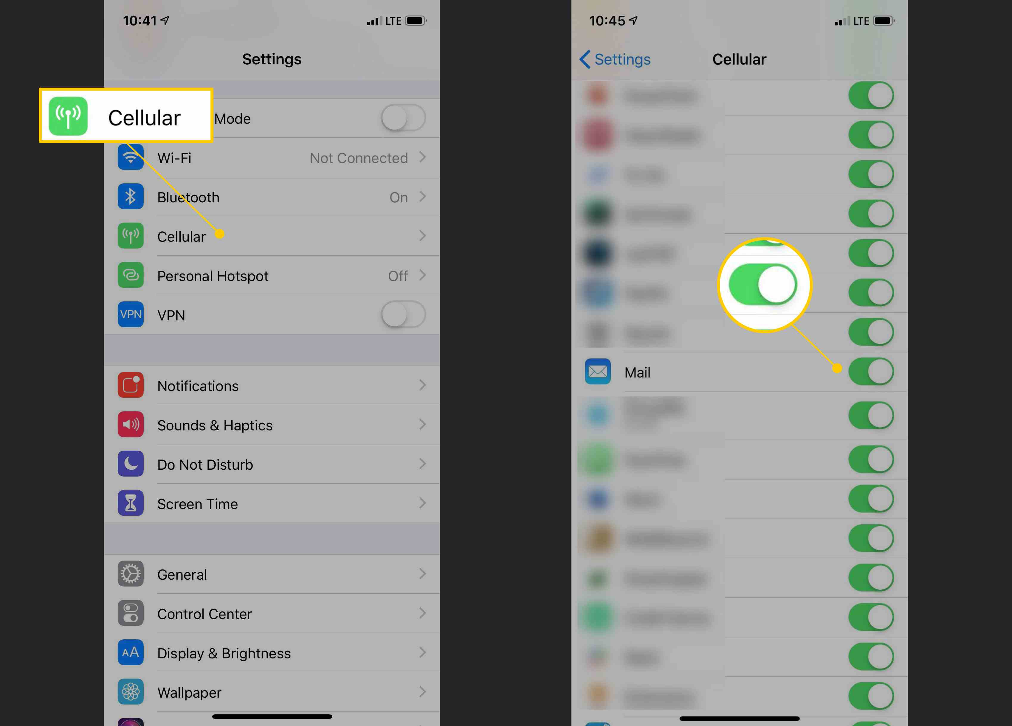 How to Stop iOS Mail from Using Cellular Data