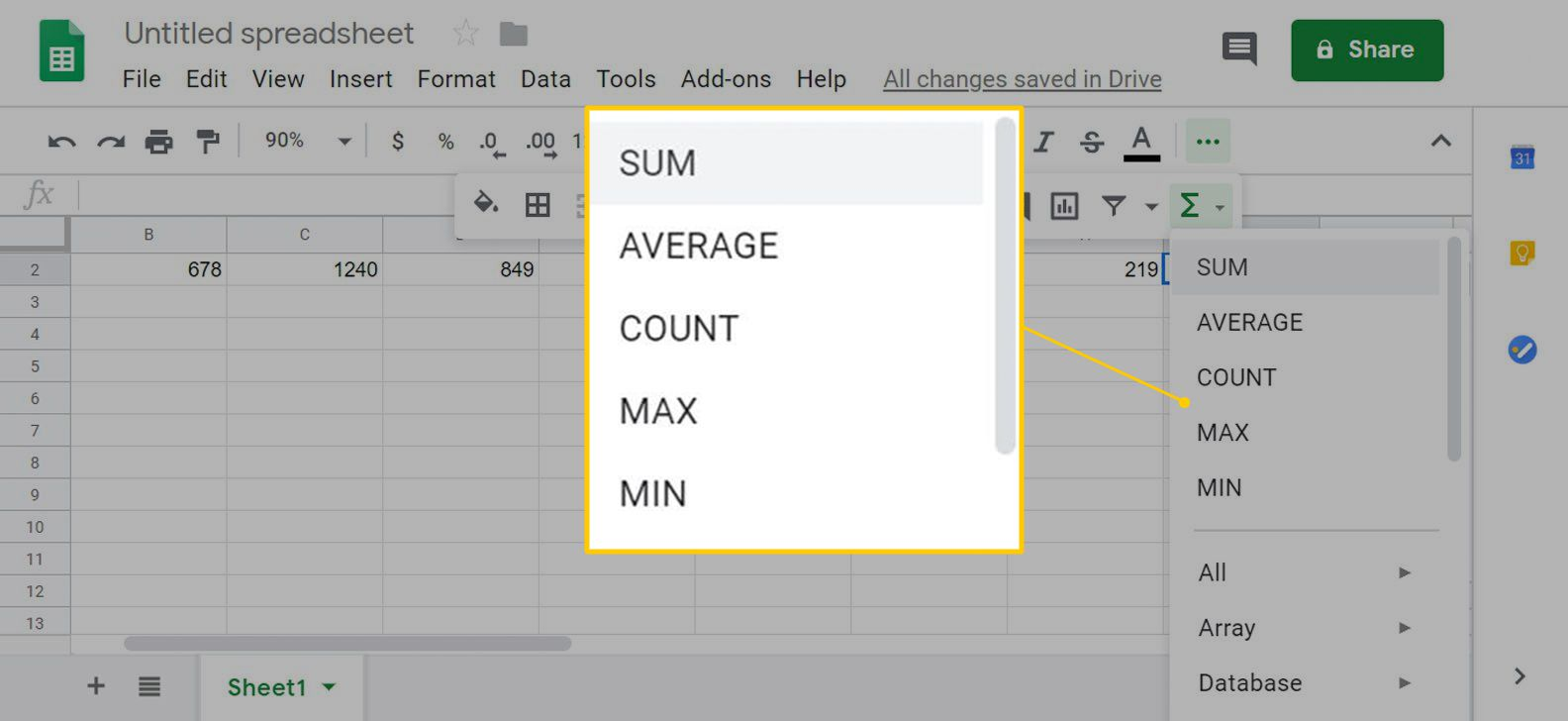 How to Use Functions in Google Sheets