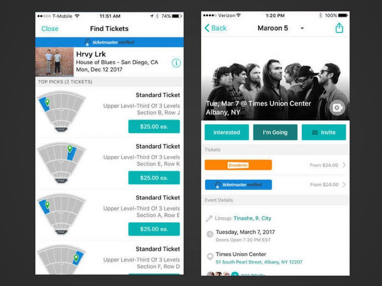 Bandsintown on iOS