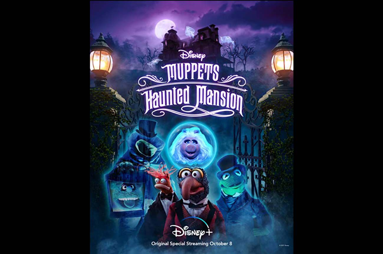 Poster art for the Disney+ special 'Muppets Haunted Mansion'