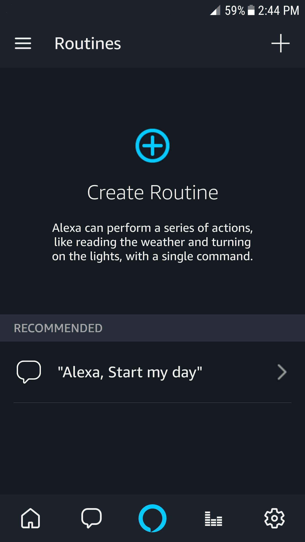 alexa app create routine