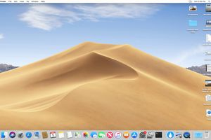 macOS Mojave with Desktop Stacks enabled