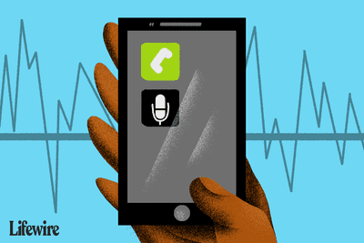 A smartphone with a phone icon and recording app on it.