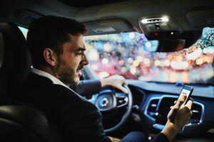 Driving Waze Spotify Navigation App Safely