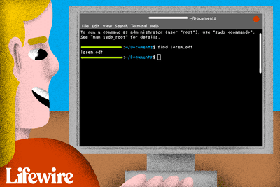 Person using the Linux command line