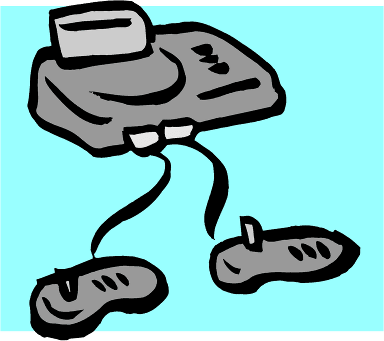 Illustration Of A Video Game Console