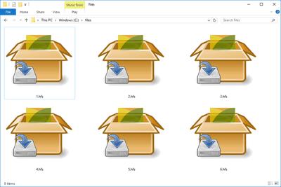 HFS files in a Windows 10 folder