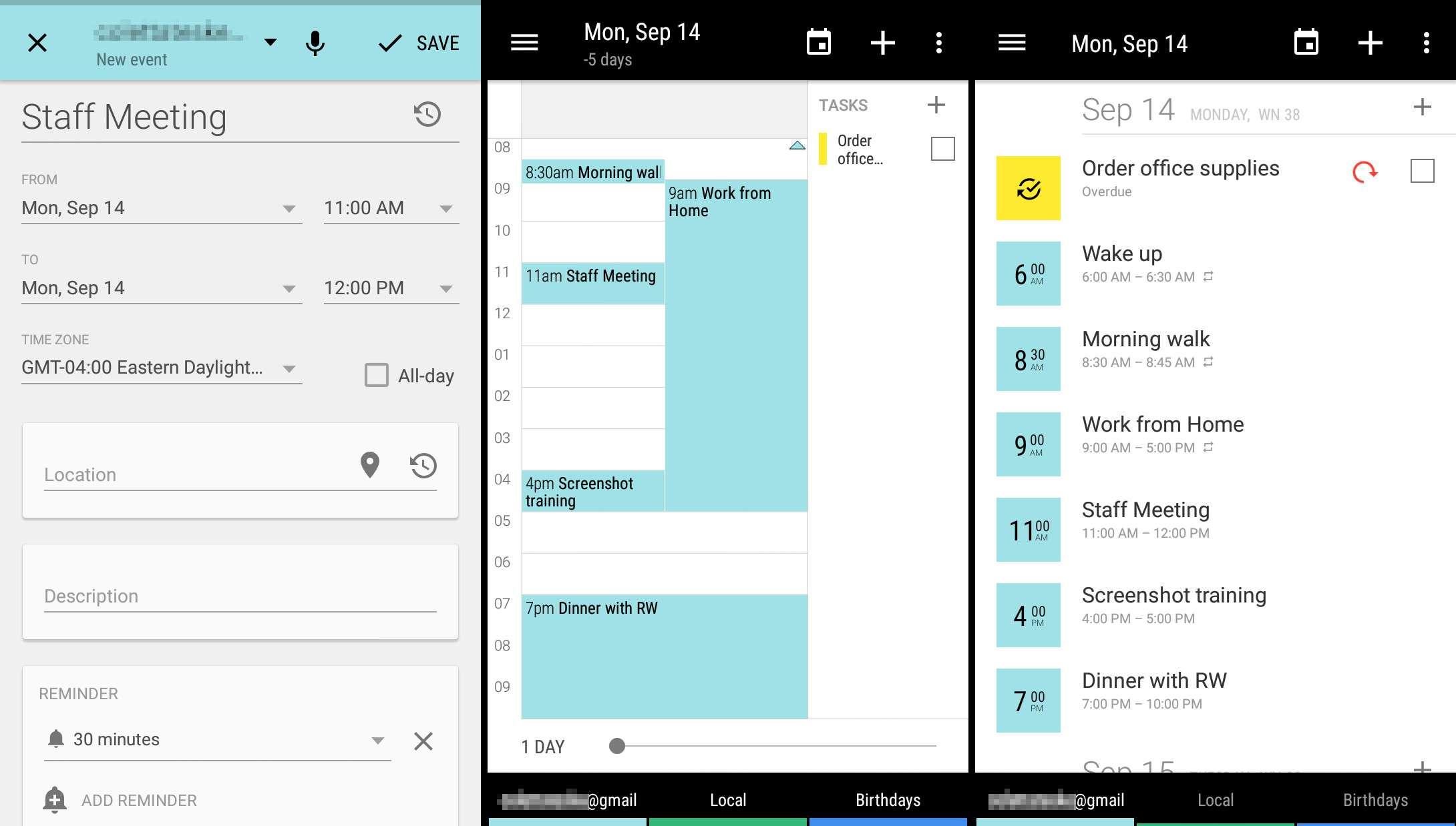 Create events, view calendars in Business Calendar 2