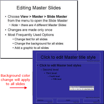 Edit the PowerPoint slide master