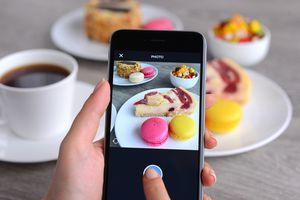 A breakfast photo taken for Instagram