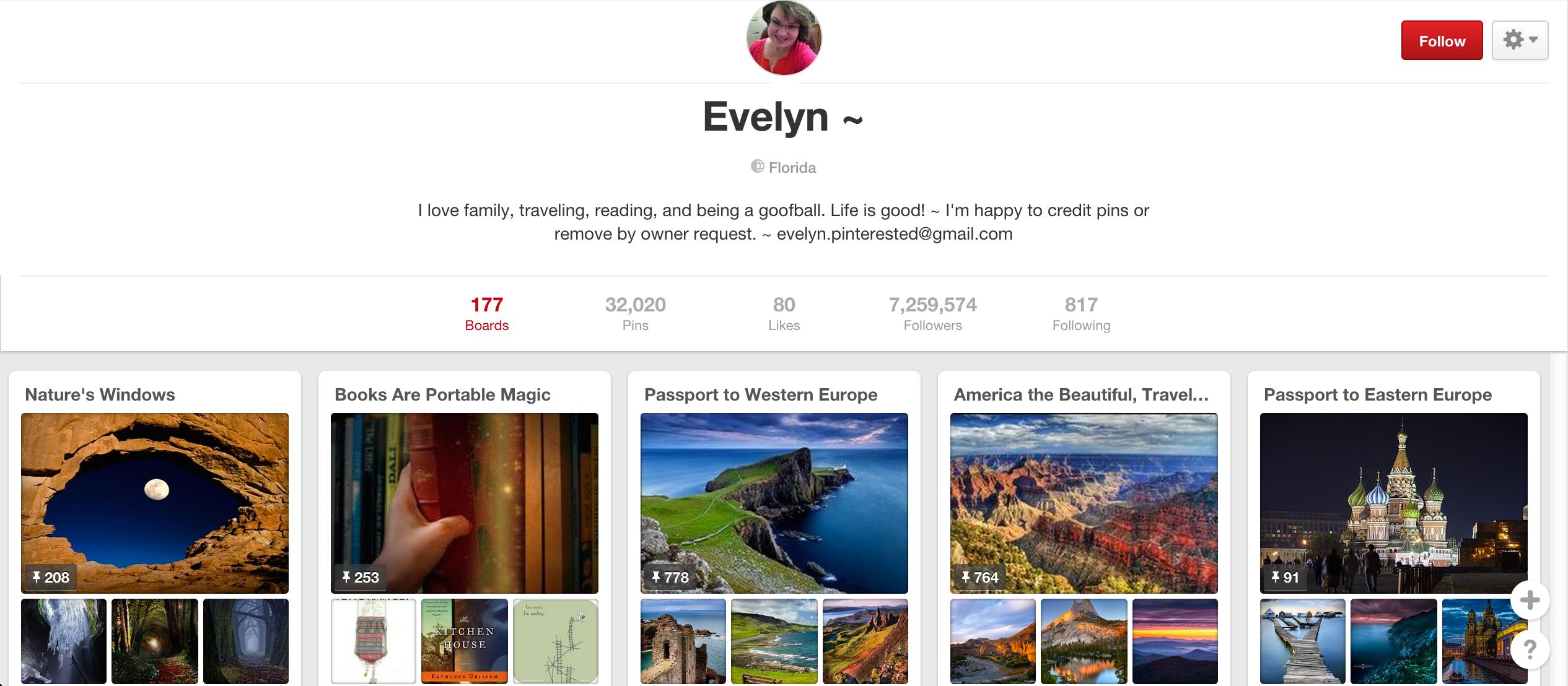 Evelyn Pinterest board
