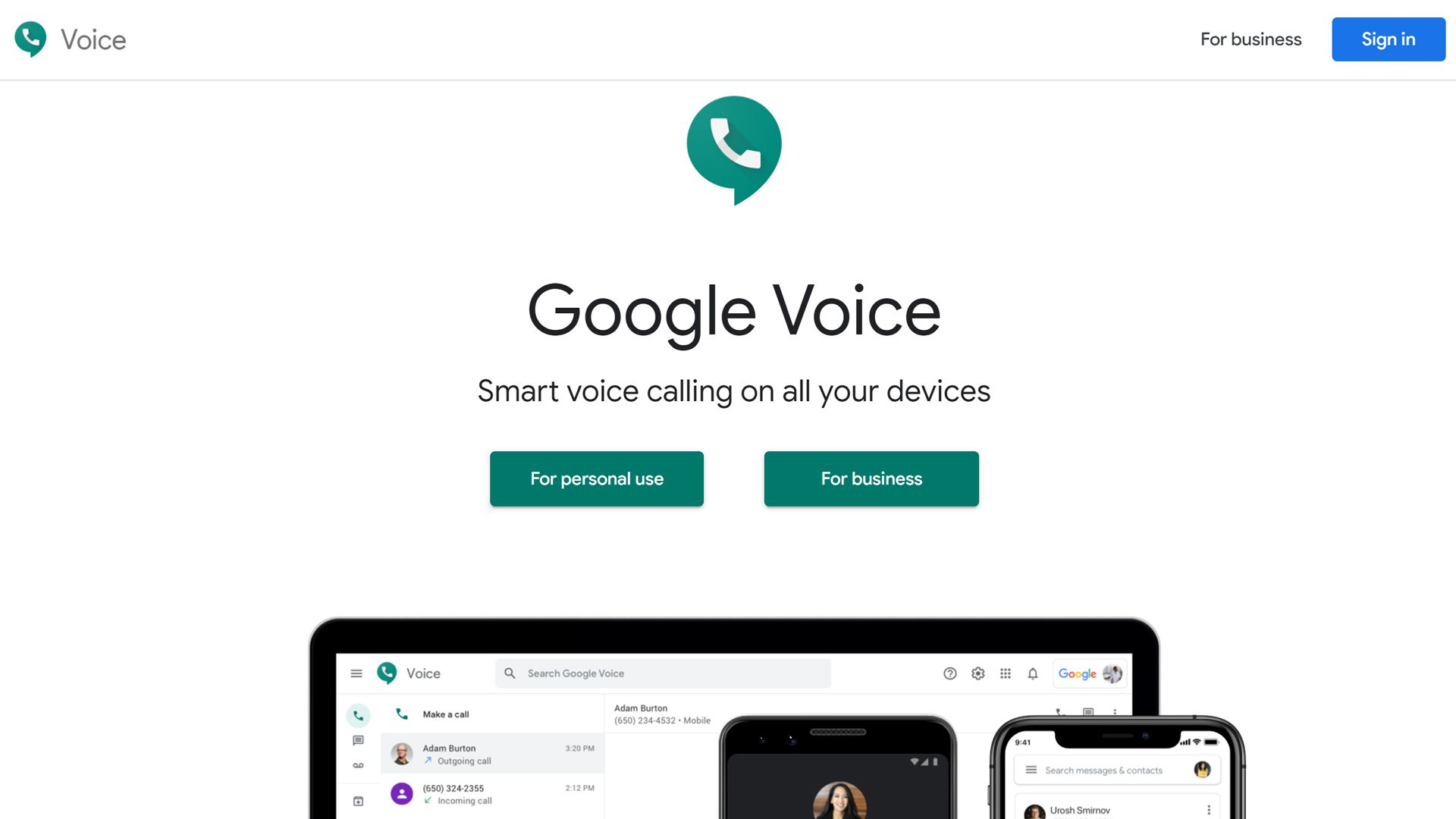 Google Voice website for making calls and recording them.