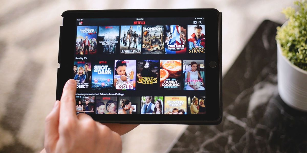 Netflix on a tablet