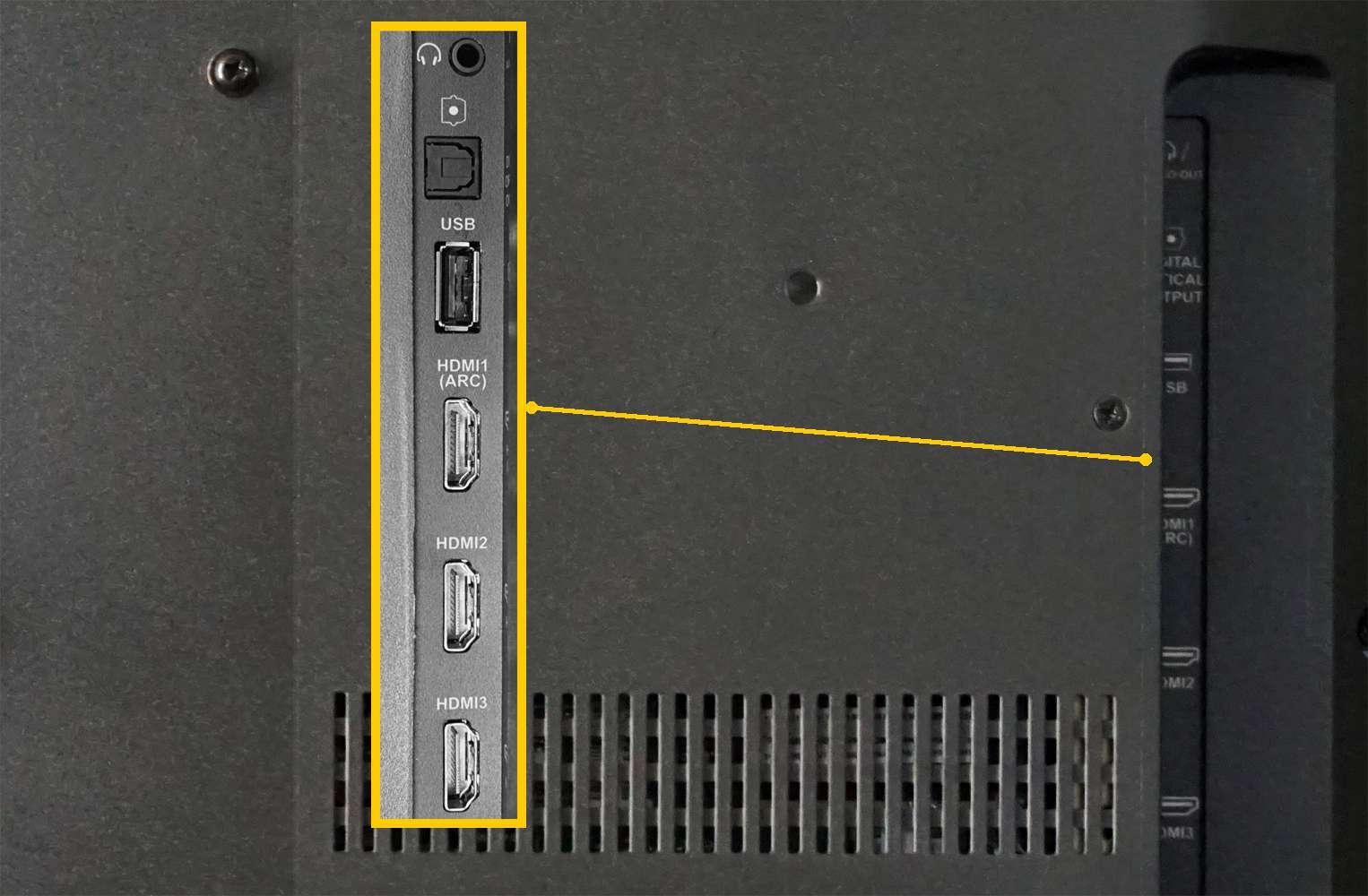TV Connections – HDMI, USB, Digital Optical, Earphone