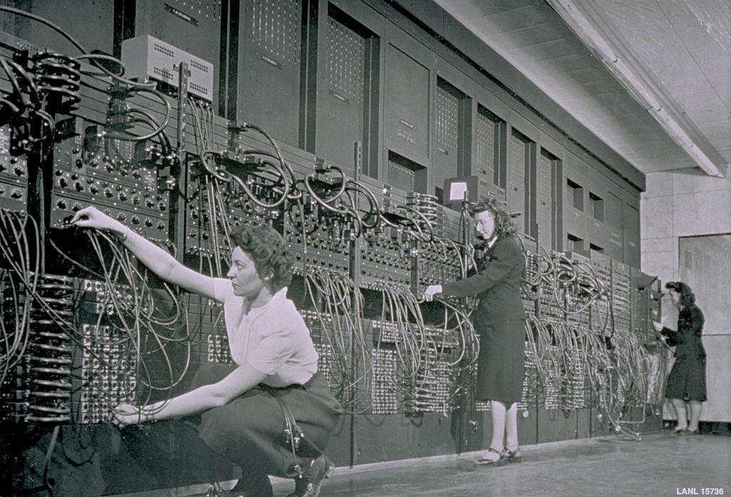 Programmers input a program into ENIAC