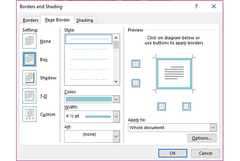 how to use landscape in ms word