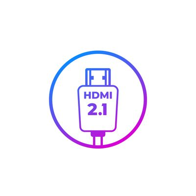 Graphic of an HMDI 2.1 cable.