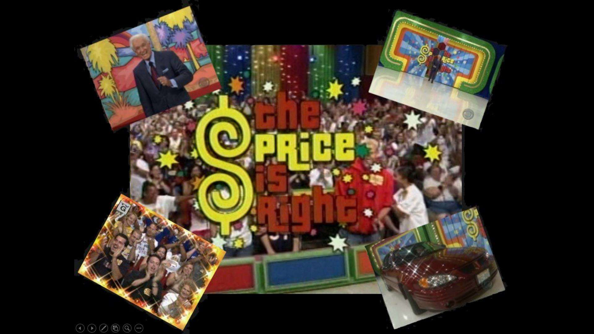 A Price is Right PowerPoint template with 4 different photos from the television show.