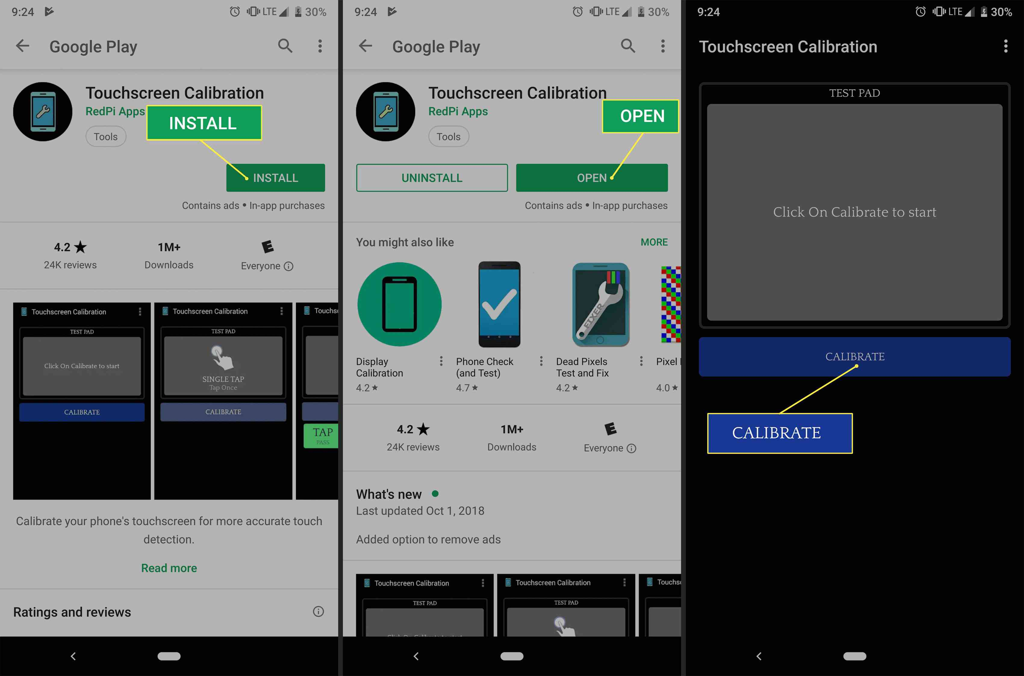 Installing the Touchscreen Calibration app