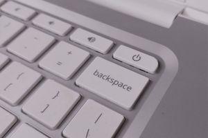 Close-up of a Chromebook power button