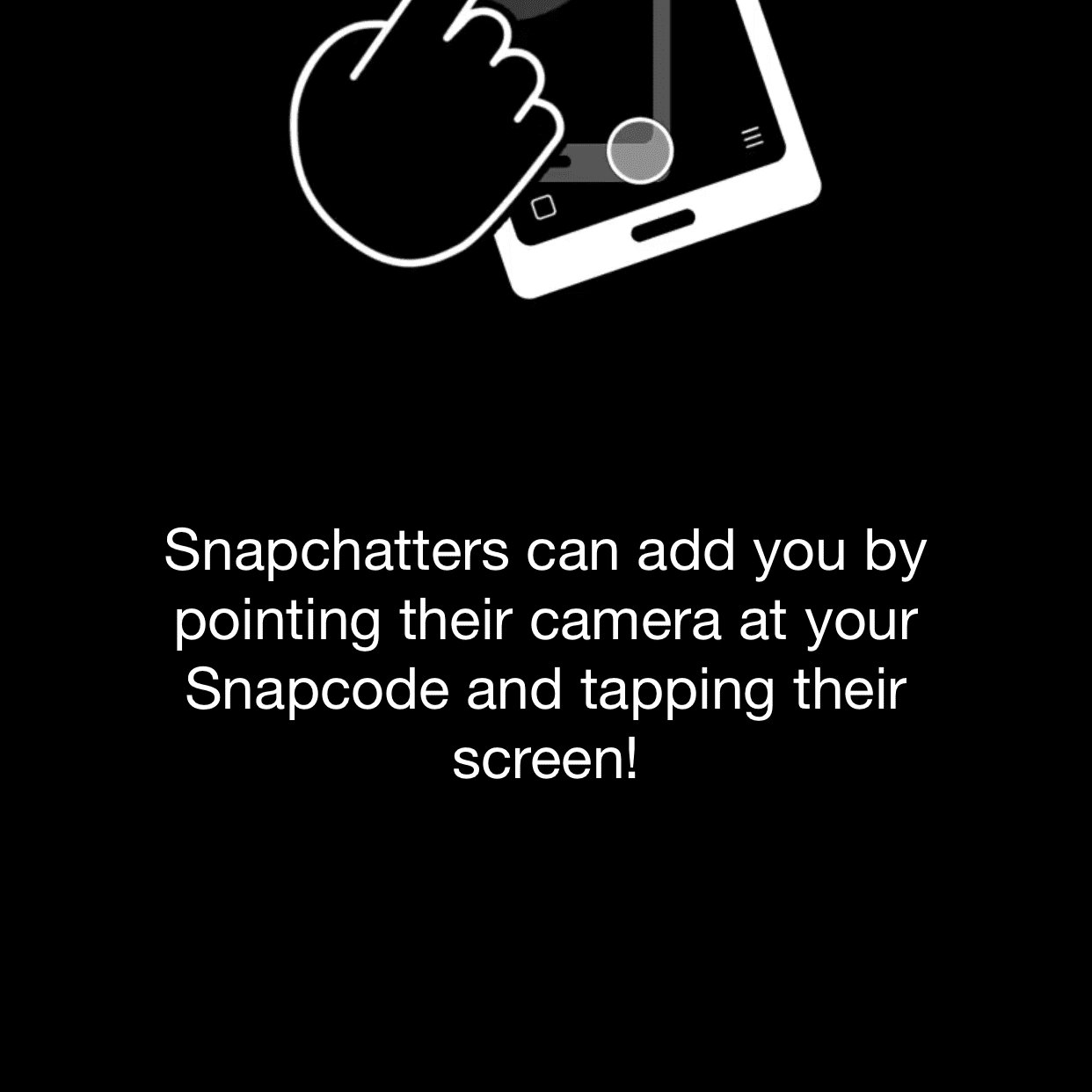 Adding a friend in Snapchat for iOS