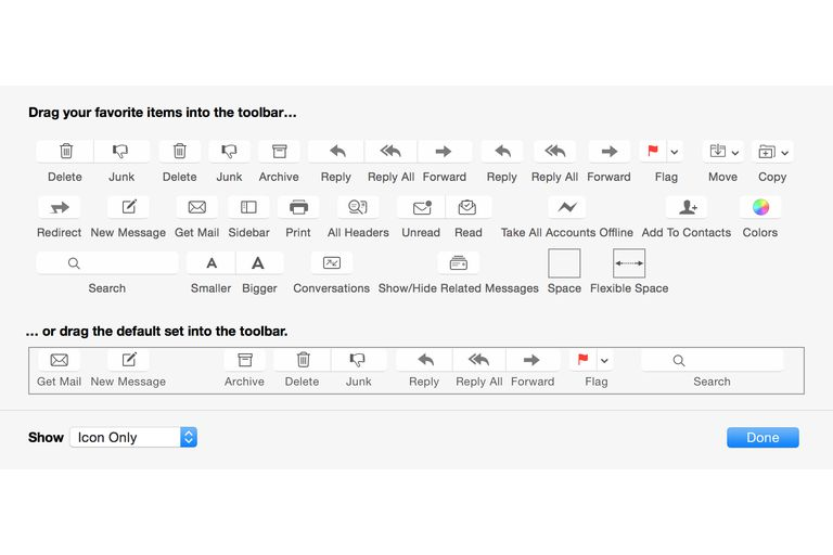 Mail Toolbar