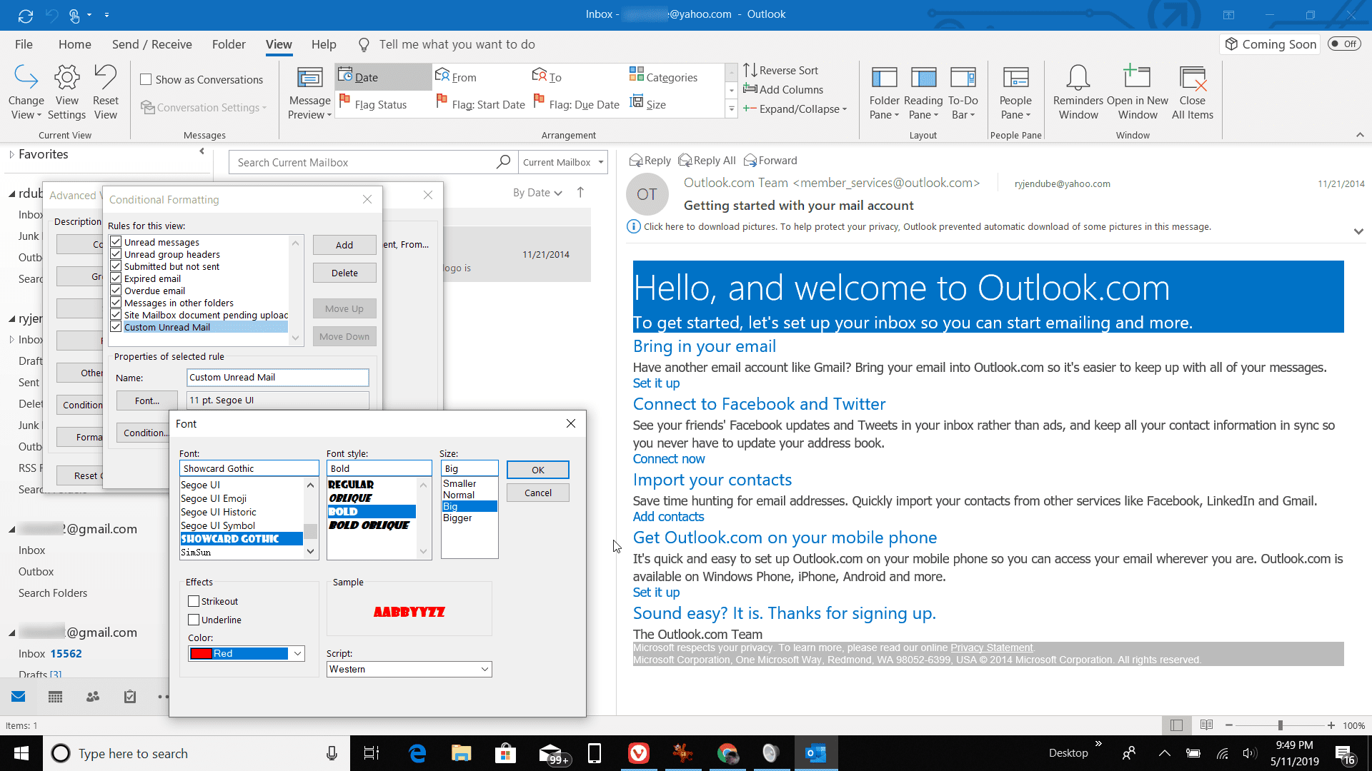 How to Change the Font of Unread Messages in Outlook
