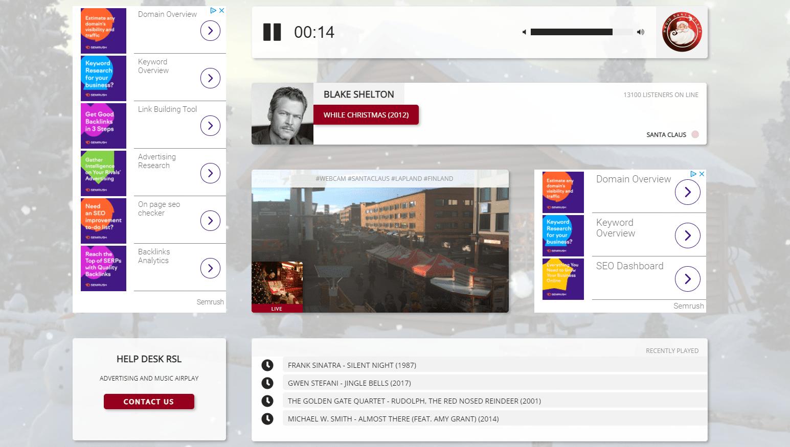 Radio Santa Claus online radio station