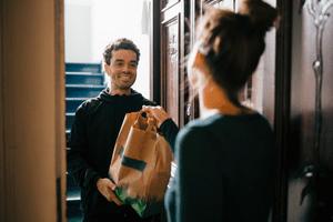 Image of a man delivering food