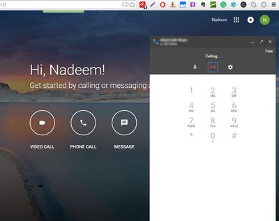 Hangouts Calling Through GMail and Google+