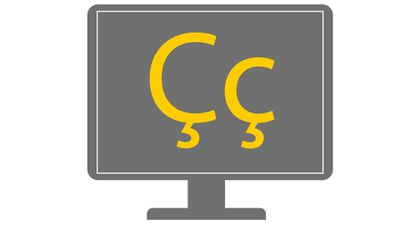 Computer monitor with cedilla marks on it.