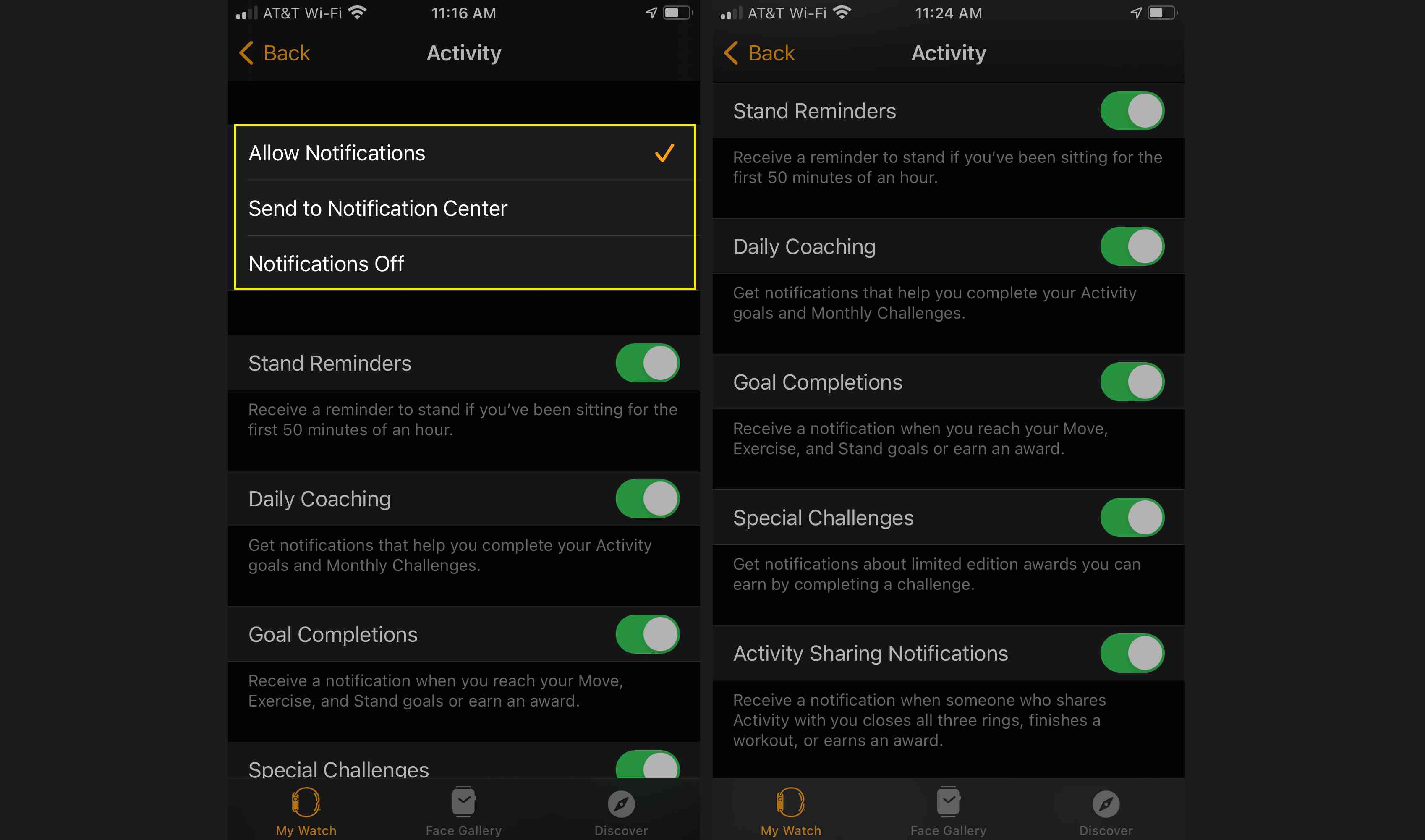 Customize your Apple Watch Activity app notifications