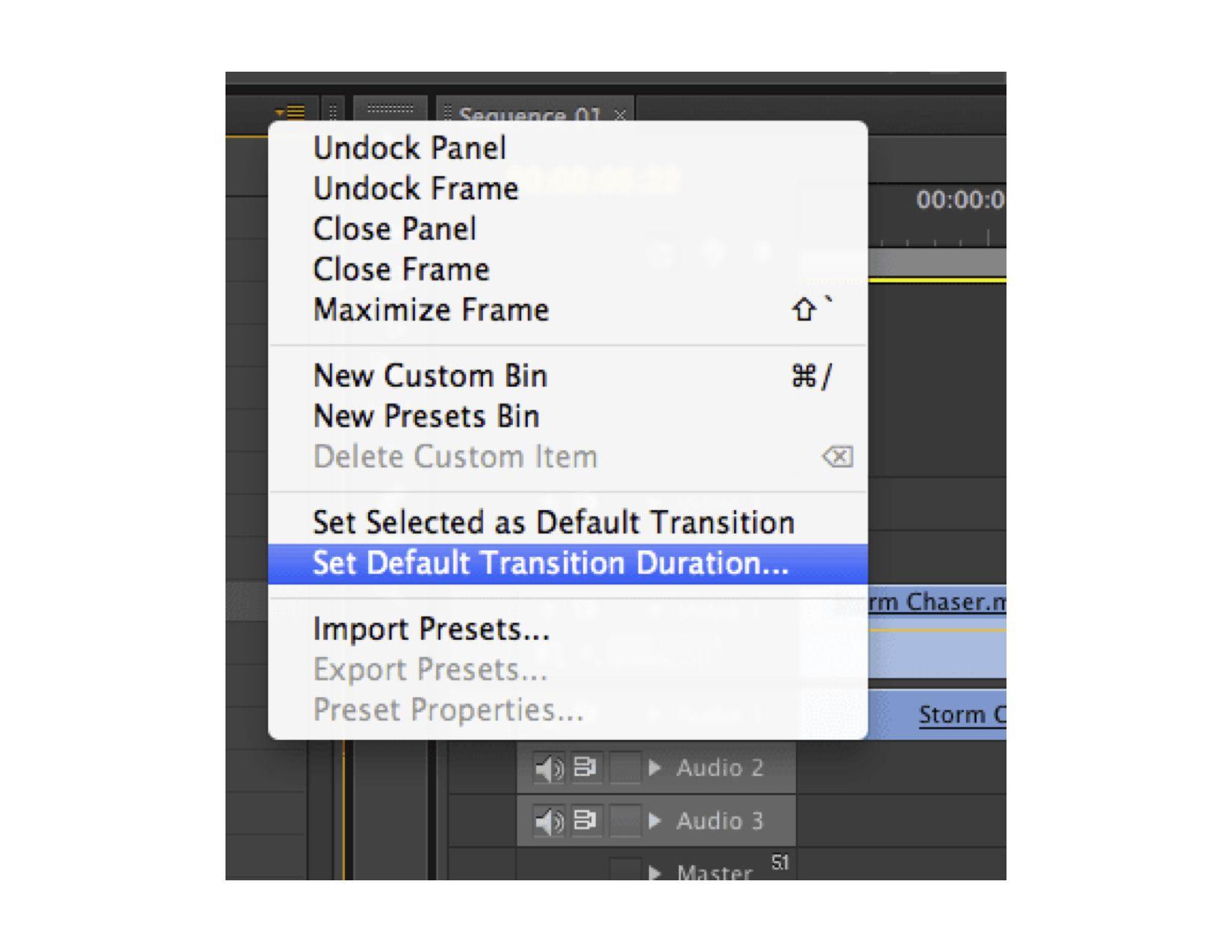 Screenshot of Adobe Premiere tools