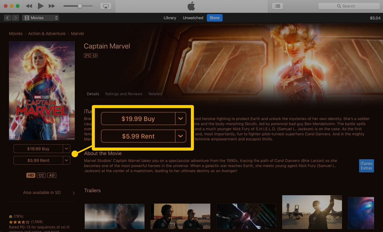 Using iTunes Movie Rentals on a Computer