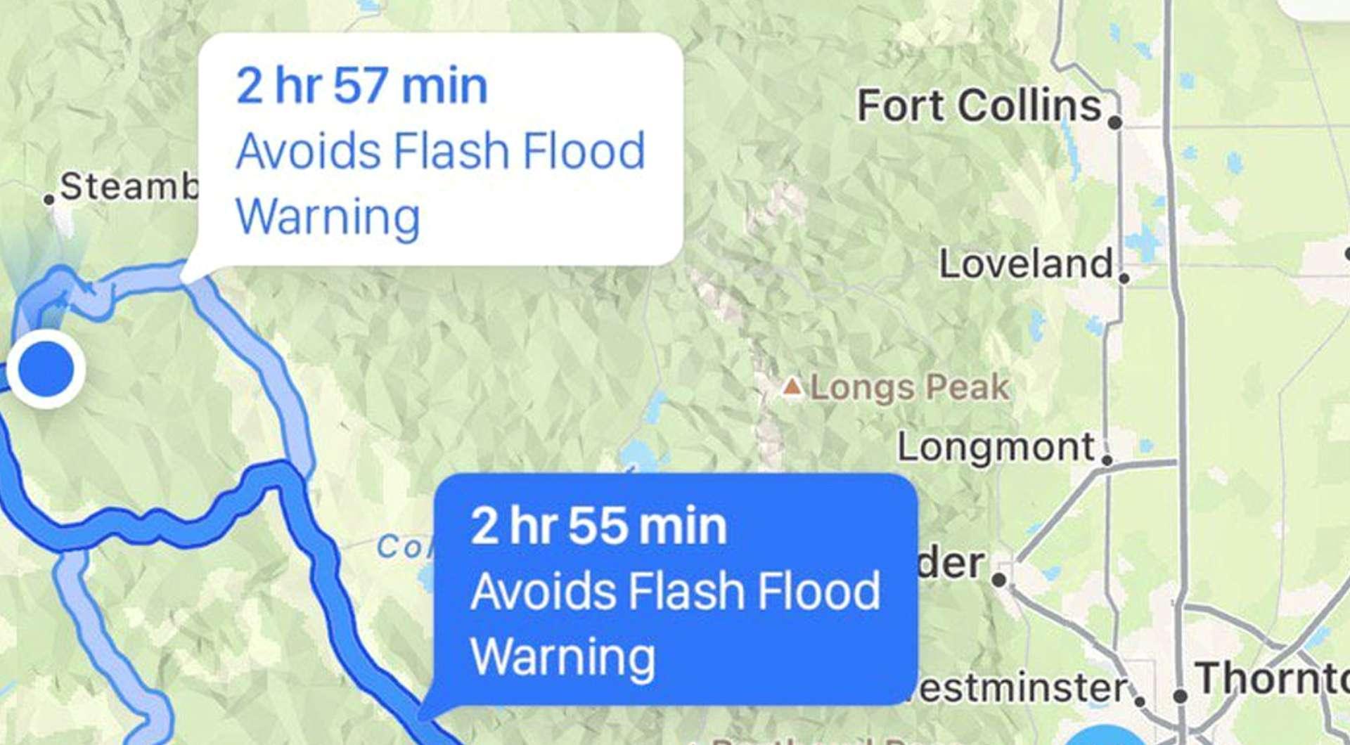 iOS 15 Apple Maps hazard warnings