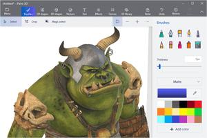 Screenshot of Microsoft Paint 3D in Windows 10