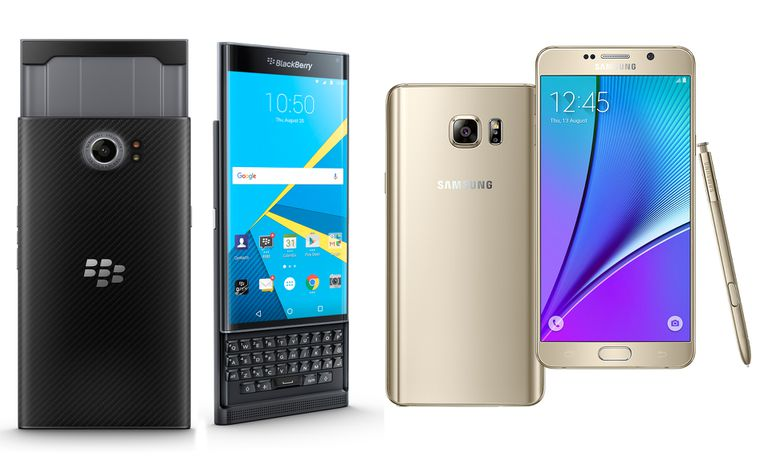 BlackBerry Priv y Samsung Galaxy Note 5