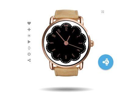 Rose Gold Wear OS watch face