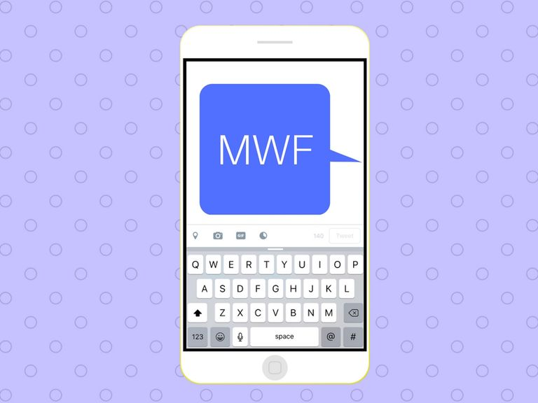 MWF acronym on cell phone