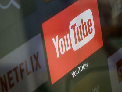 YouTube logo highlighted next to Netflix logo