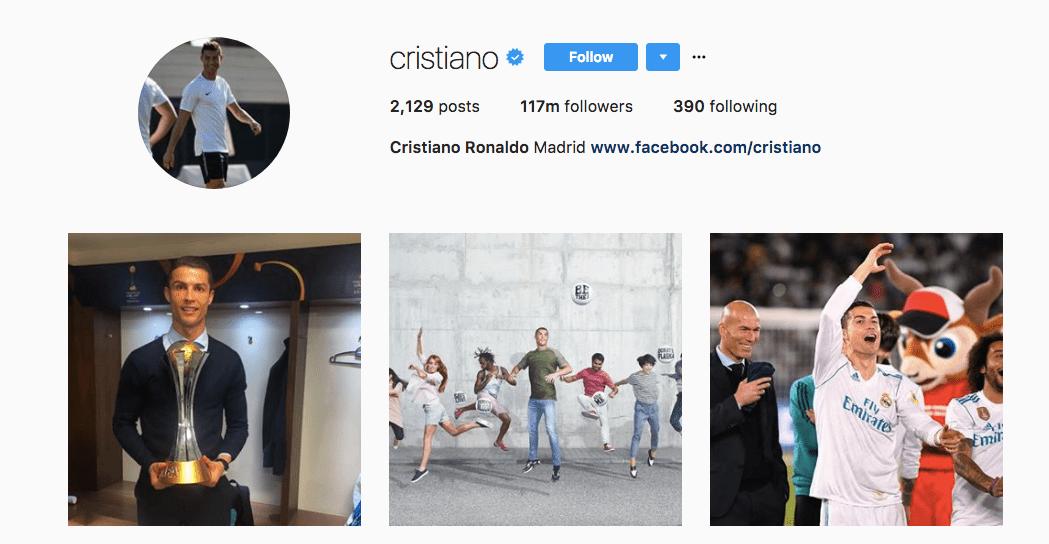 Cristiano Ronaldo/Instagram screenshot
