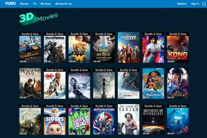 VUDU 3D streaming service page