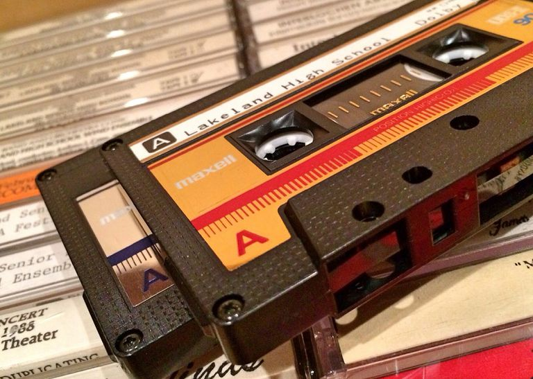 A stack of casette tapes