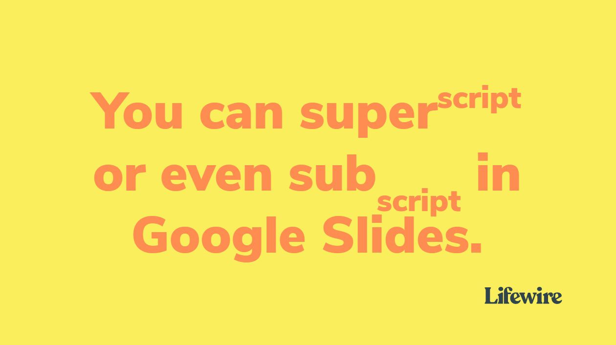 How to Superscript and Subscript in Google Slides