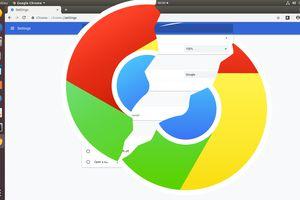 Stylized broken Google Chrome logo
