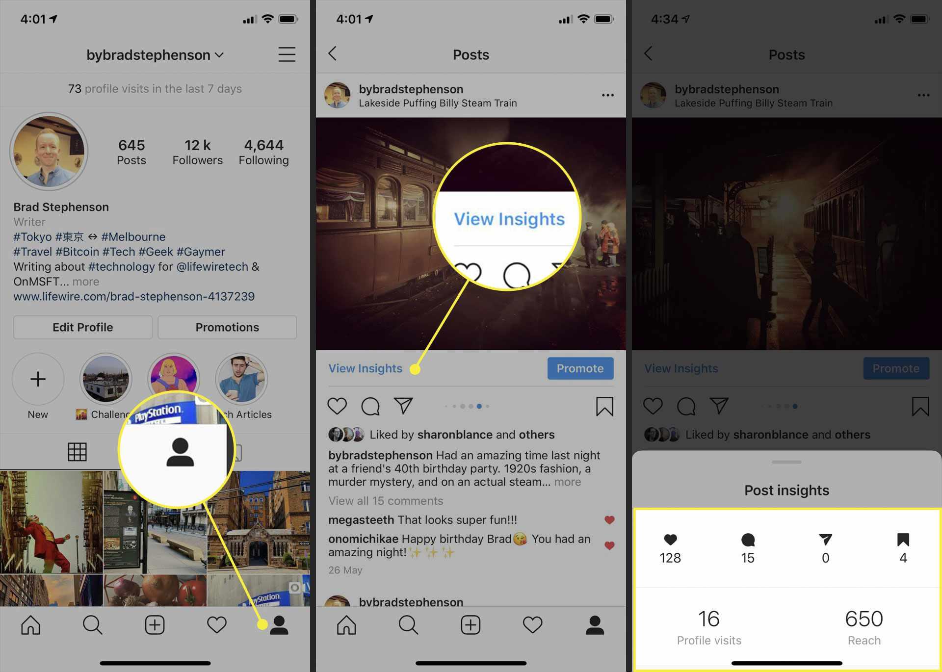 Post insights on Instagram