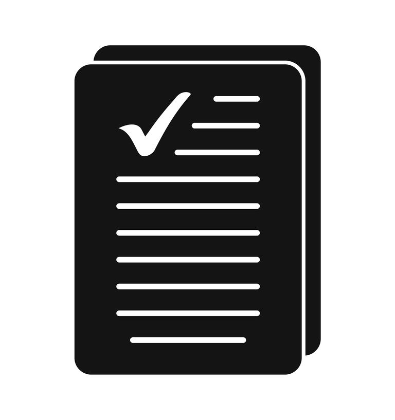Valid Document Icon. Flat style vector EPS.