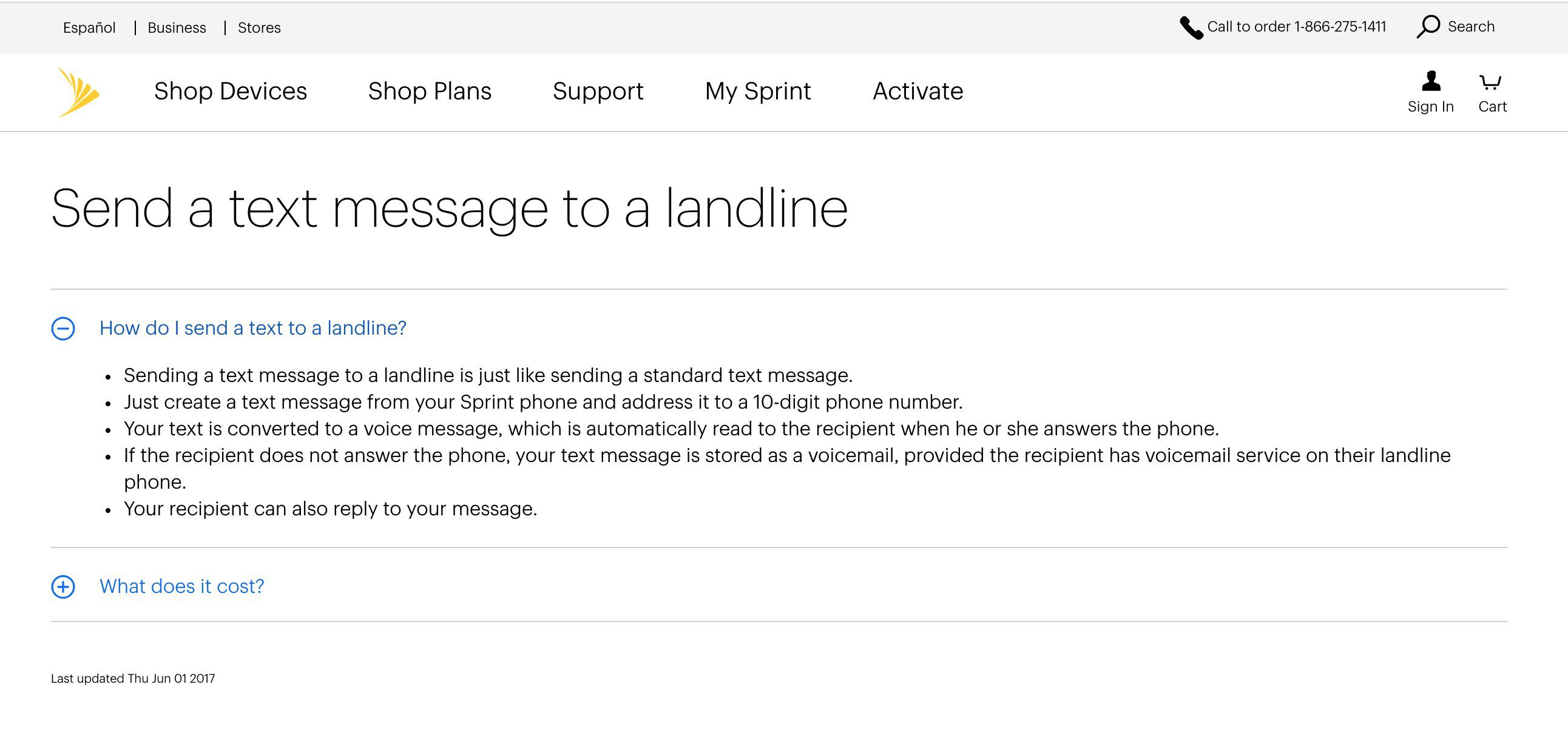 how to send text from landline phone