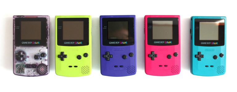 Game boys in various colors